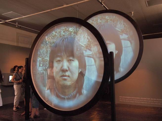 Song Dong, Father and Son Face to Face with a Mirror, 2001